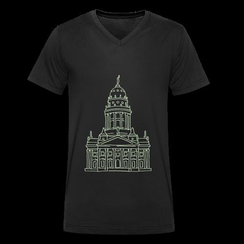 Französischer Dom Berlin - Männer Bio-T-Shirt mit V-Ausschnitt von Stanley & Stella