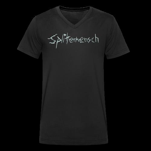 Splittermensch Reflektor-Shirt - Männer Bio-T-Shirt mit V-Ausschnitt von Stanley & Stella