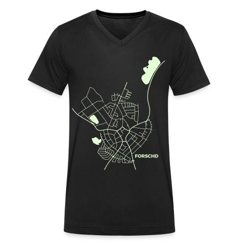 Ortsplan V-Shirt Selbstleuchtend - Männer Bio-T-Shirt mit V-Ausschnitt von Stanley & Stella