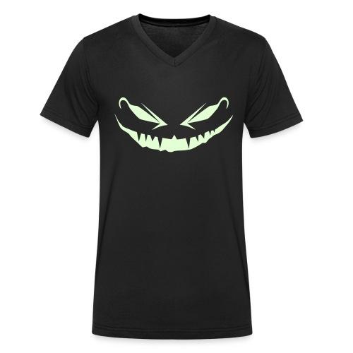 jack o lantern face - Männer Bio-T-Shirt mit V-Ausschnitt von Stanley & Stella