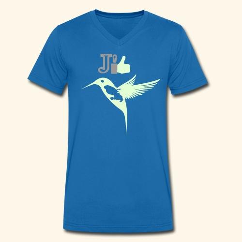 J'aime la Martinique l'île aux fleurs - T-shirt bio col V Stanley & Stella Homme