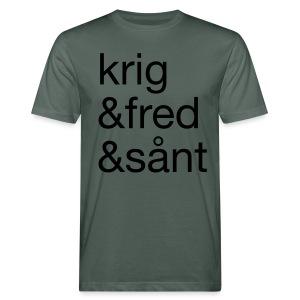 krig&fred&sånt - Økologisk T-skjorte for menn