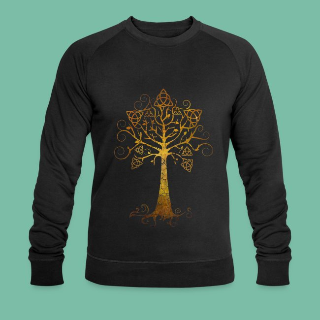 Sweat shirt bio  manches longues arbre phare Brocéliande Spirit