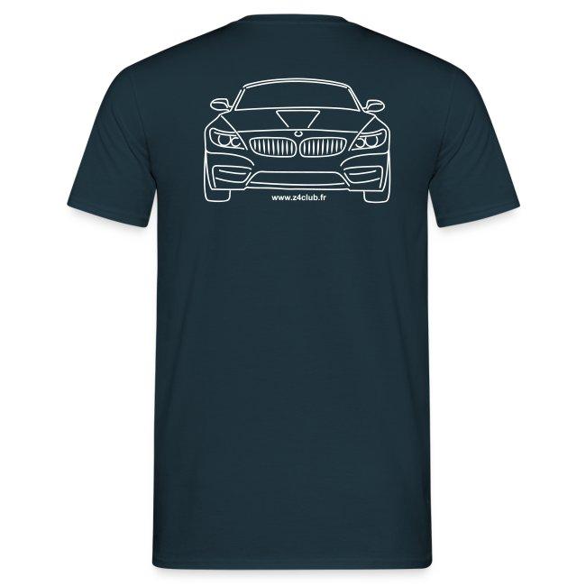 T-shirt Z4 sDrive au dos. Motif blanc