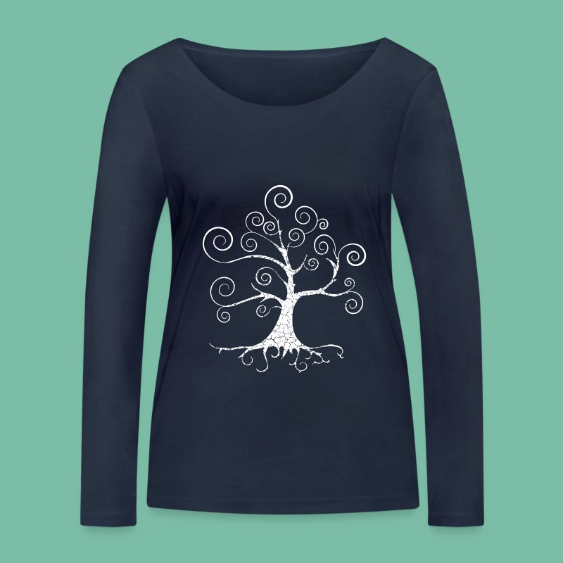 Tshirt manches longues  arbre harmonie Brocéliande Spirit - T-shirt manches longues bio Stanley & Stella Femme