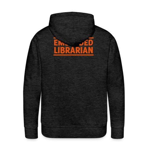 herren-hoodie grau mit orangenem druck - Männer Premium Hoodie