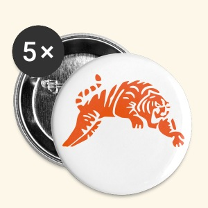BADGE 3D TIGER metal Chinese new year - Badge grand 56 mm