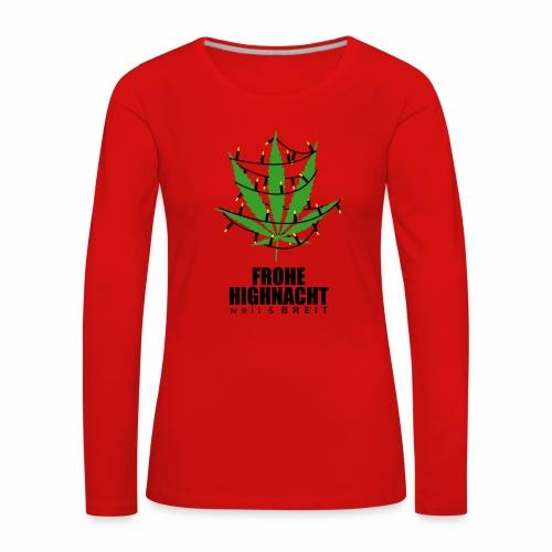 Frohe HighNacht - langarm Shirt - Frauen Premium Langarmshirt