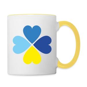 Kleeherz Tasse - Tasse zweifarbig