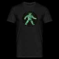 T-Shirts ~ Men's T-Shirt ~ space raiders greenman (men's classic black)