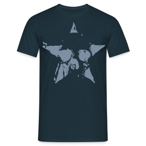 Silver Star Skull - Men's T-Shirt