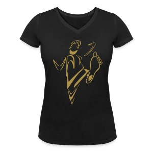 Women's Do Some Bhangra Tee - Women's Organic V-Neck T-Shirt by Stanley & Stella