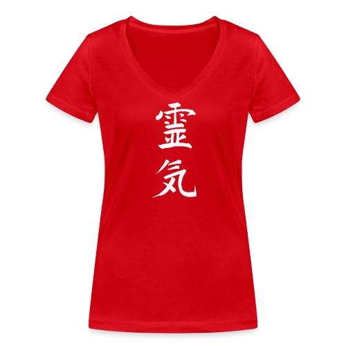 Reiki - Frauen Bio-T-Shirt mit V-Ausschnitt von Stanley & Stella