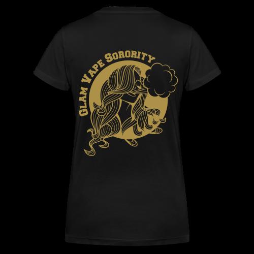 GLAM VAPE SORORITY - paillettes or - T-shirt bio col V Stanley & Stella Femme