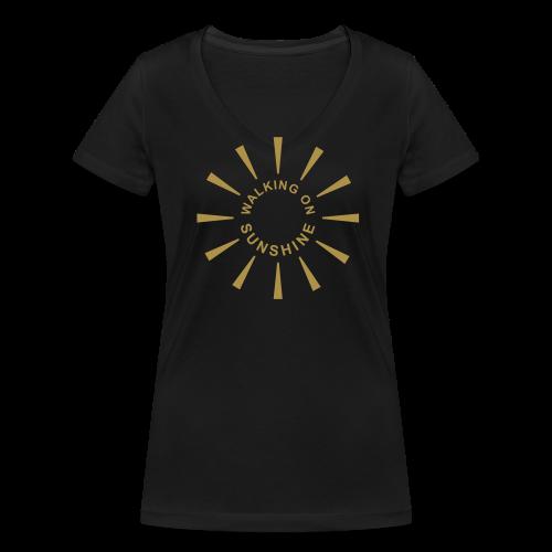 Walking On Sunshine (Gold Edition) - Frauen Bio-T-Shirt mit V-Ausschnitt von Stanley & Stella