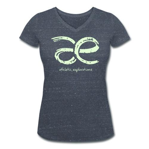 glow | leuchten æ logo - Women's Organic V-Neck T-Shirt by Stanley & Stella