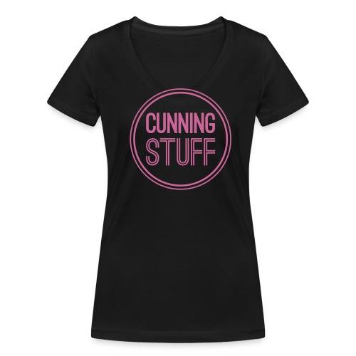 T-Shirt mit Glitterlogo - Frauen Bio-T-Shirt mit V-Ausschnitt von Stanley & Stella