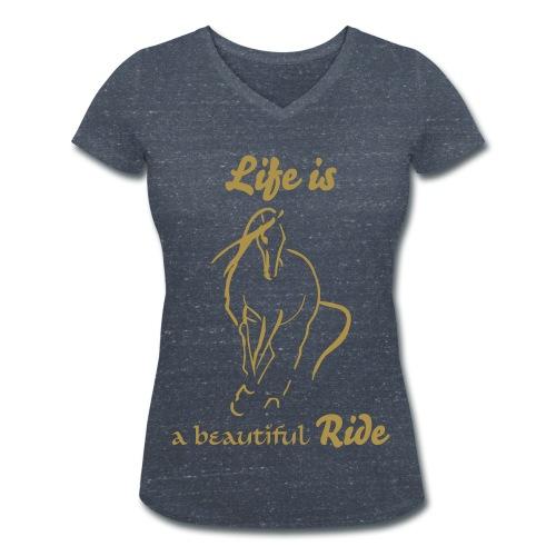 Life is... - Frauen Bio-T-Shirt mit V-Ausschnitt von Stanley & Stella