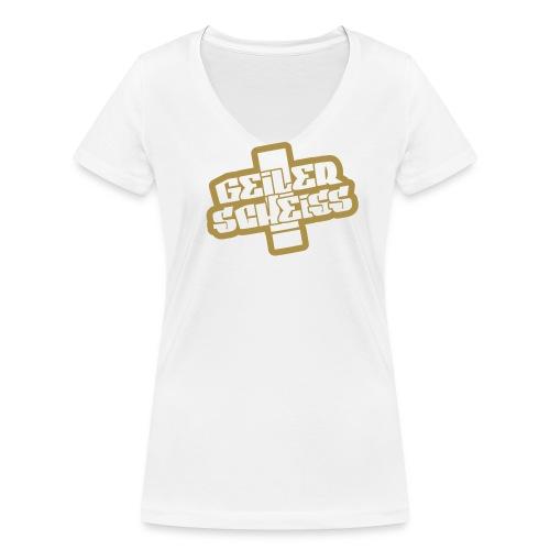 GELER SCHEISS T-Shirt - Frauen Bio-T-Shirt mit V-Ausschnitt von Stanley & Stella