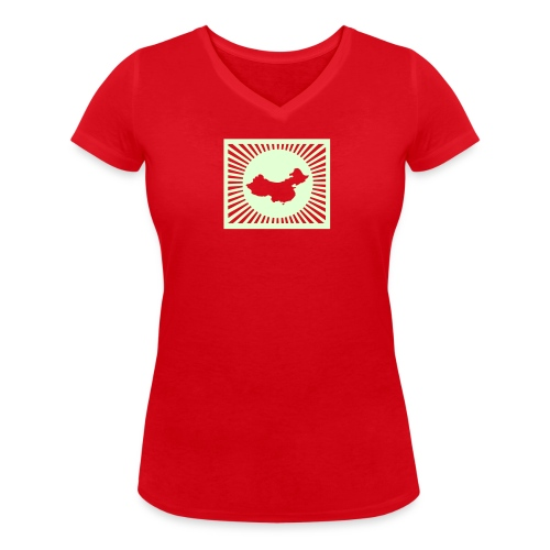 China tee shirt - Women's Organic V-Neck T-Shirt by Stanley & Stella