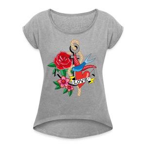 Good bye Sailor Damen-Shirt - Frauen T-Shirt mit gerollten Ärmeln