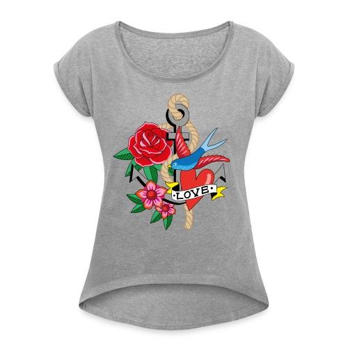 Good bye Sailor Damen-Shirt - T-shirt med upprullade ärmar dam