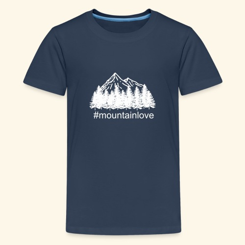 Mountain love Traveller Choice - Teenager Premium T-Shirt