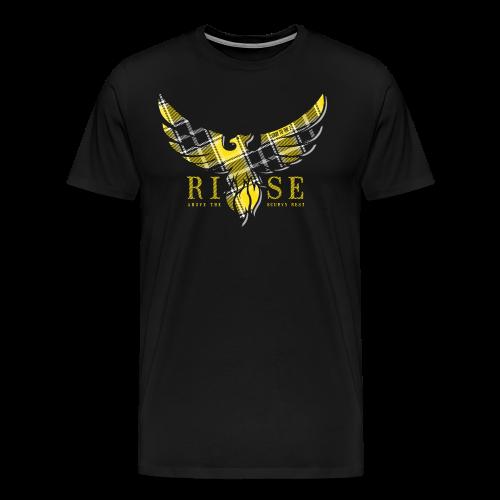 Rise Yellow Tartan m - Männer Premium T-Shirt