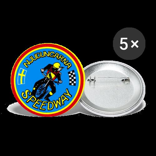 Pins 56mm 5-pack, Njudungarna Vintage - Stora knappar 56 mm (5-pack)