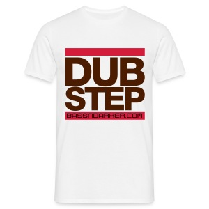 White plain DUB STEP Tee - Men's T-Shirt