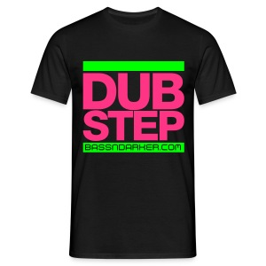 Black plain DUB STEP Tee - Men's T-Shirt
