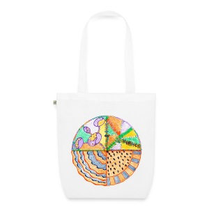 Purifying Creativity organic cotton tote bag - Borsa ecologica in tessuto