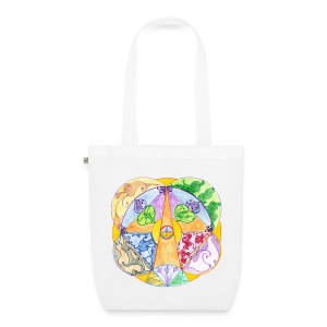 Creativity Focus organic cotton tote bag - Borsa ecologica in tessuto