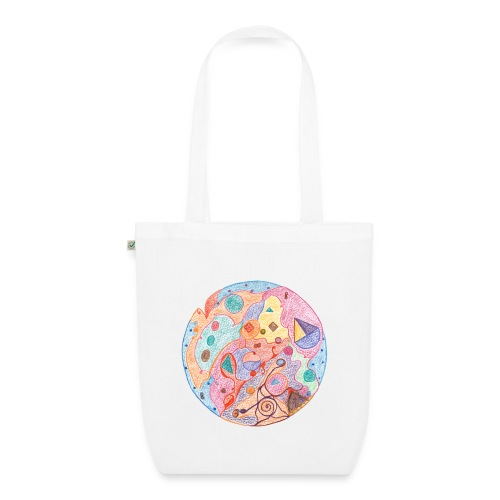 Creativity Healing organic cotton tote bag - Borsa ecologica in tessuto