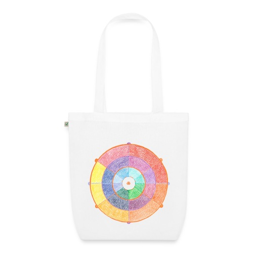 Creativity Rainbow organic cotton tote bag - Borsa ecologica in tessuto