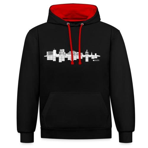 Skyline contrast hoodie - Contrast Colour Hoodie