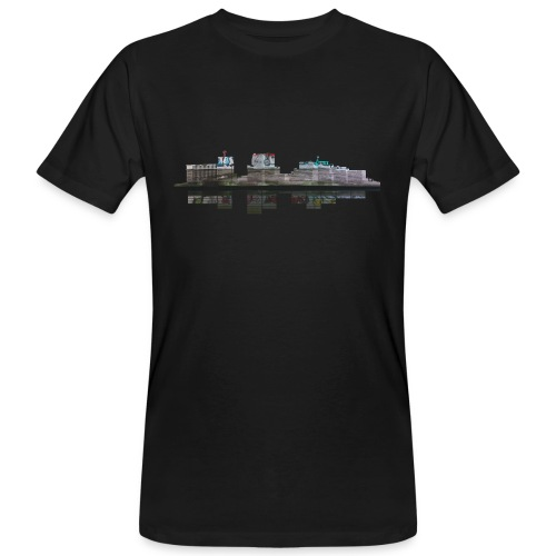 Colour print Notts towerblock graphic equaliser t-shirt - Men's Organic T-Shirt
