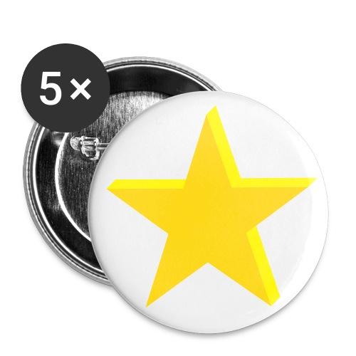 ink star pin - Stor pin 56 mm (5-er pakke)