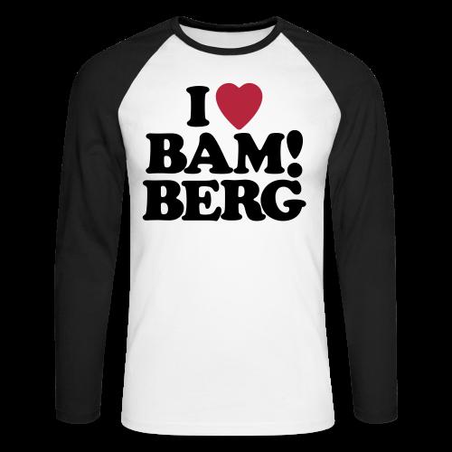 BAM!berg - Herren Baseball Langarmshirt - 100% Baumwolle - #BAM!berg - Männer Baseballshirt langarm