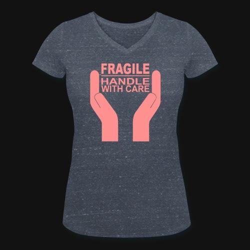 Fragile - Handle with care - Frauen Bio-T-Shirt mit V-Ausschnitt von Stanley & Stella