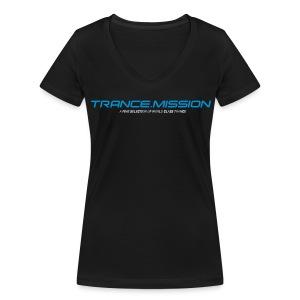 Trance.Mission (w) detail (black) - Frauen Bio-T-Shirt mit V-Ausschnitt von Stanley & Stella