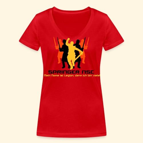 Frauen TShirt - Legion - Frauen Bio-T-Shirt mit V-Ausschnitt von Stanley & Stella
