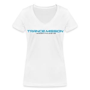 Trance.Mission (w) detail (white) - Frauen Bio-T-Shirt mit V-Ausschnitt von Stanley & Stella