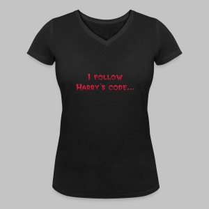 T-shirt femme (woman) Harry's Code - Women's Organic V-Neck T-Shirt by Stanley & Stella
