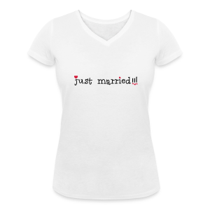 T shirt Just Married - T-shirt bio col V Stanley & Stella Femme
