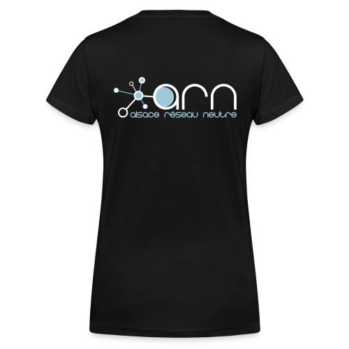 T-shirt Girly ISP Black - T-shirt bio col V Stanley & Stella Femme