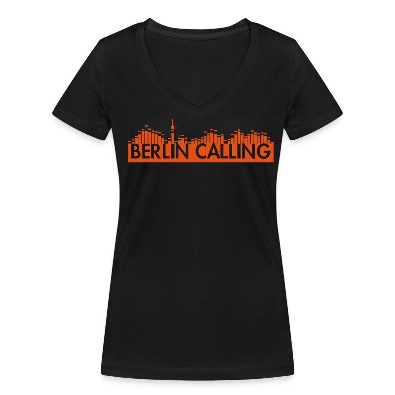 "Frauen Bio-T-Shirt mit V-Ausschnitt von Stanley & Stella - Official Product of the ""Berlin Calling"" Motive from Paul Kalkbrenner."