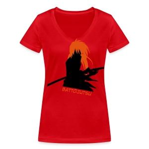 Battojutsu Kenshin ~ Limited ~ Red [Female] - Women's Organic V-Neck T-Shirt by Stanley & Stella