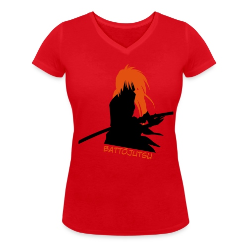 Battojutsu Kenshin ~ Limited ~ Red [Female] - Women's Organic V-Neck T-Shirt by Stanley & Stella