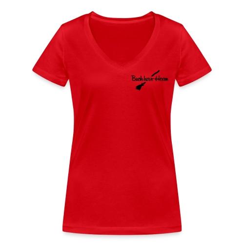 """Logo-Shirt -FLASH- """"Hexenbesen"""" - Frauen Bio-T-Shirt mit V-Ausschnitt von Stanley & Stella"""